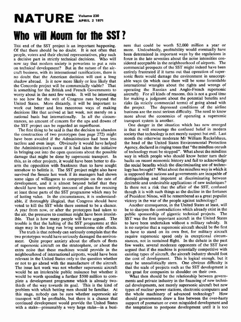 NPG nature vol 230 Issue 5292 Apr 1971 | Estuary | Missile Defense