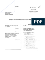 Pacific Lumber Company Complaint
