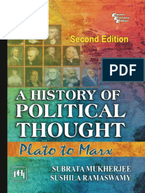 A History of Political Thought Plato to Marx - Subrata