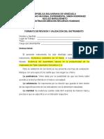 Formato de Revisión y Validación Del Instrumento