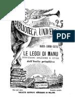Le Leggi Di Manu
