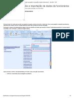 Como Fazer Exportação e Importação de Dados de Funcionários - Linha RM - TDN