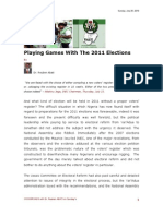 Playing Games With the 2011 Elections - Reuben Abati 260710