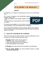 La Poblacic3b3n Espac3b1ola y de Andalucia