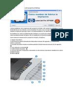 Resetear HP Laserjet Pro CP1025nw
