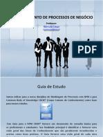 Gerenciamento de Processos de Negócio - Prof. Rômulo César