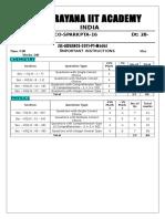 Sr.iit-z (Iz) Co-spark Jee Adv Pta-16 (2011 p1) q'Paper