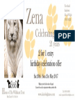 Zena 21st Birthday Voucher 2 for 1