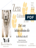 Zena 21st Birthday Voucher 2 for 1