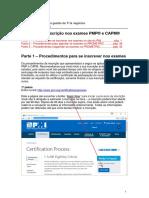 PMI Processo Inscricao Exame