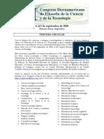 Tercera Circular III Congreso Iberoamericano de Filosofia de La Ciencia y La Tecnologia