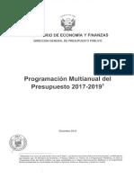 Presupuesto Multianual 2017 2019