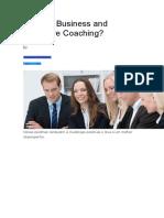 O que é Business and Executive Coaching.doc