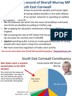 Voting record for Sheryll Murray MP South East Cornwall