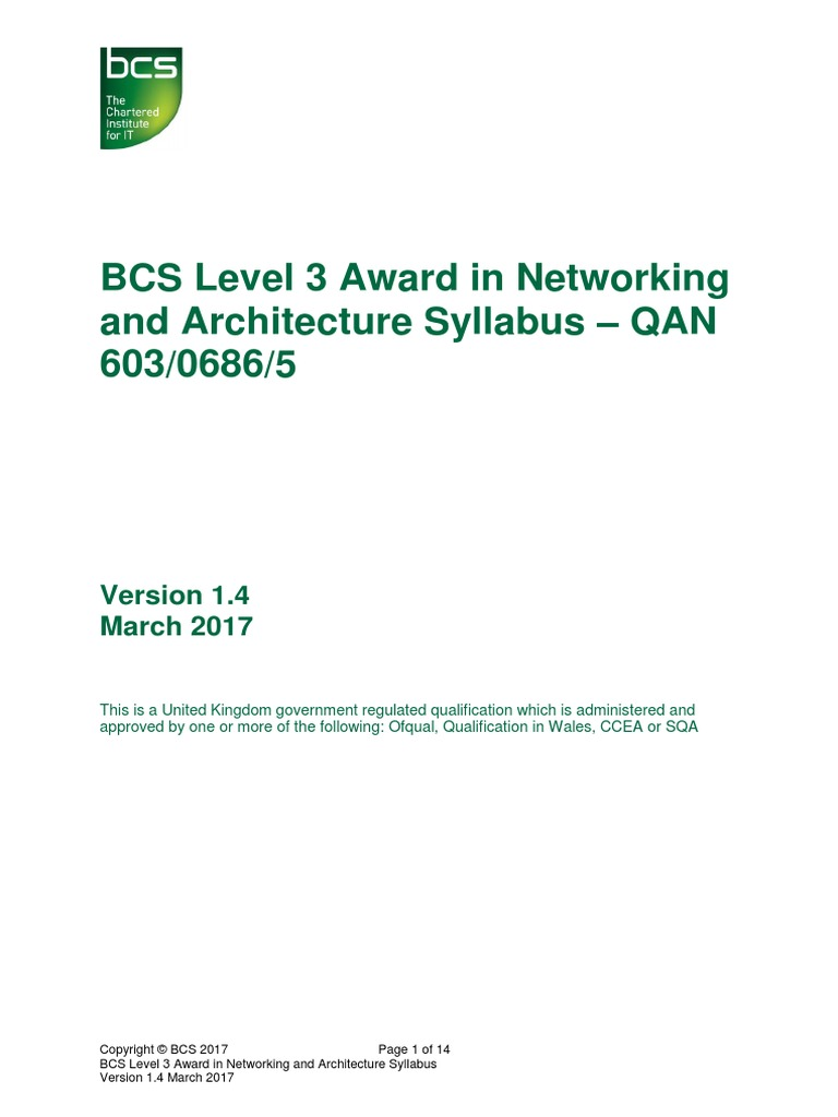 infrastructure technician networking architecture syllabus ip