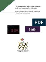 La contribución de ejecutivos de Chiquita en la comisión de crímenes de lesa humanidad en Colombia