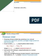 1 Matriks Ruang Vektor SPL & Matriks