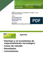 Presentación ALTEC 2015 - Ecosistema de Emprendimiento Tecnológico