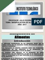 Diapositiva de Manipulacion de Alimentos Julio