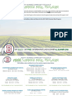 2017 NACS Free Summer Meal Program Brochure