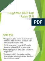 Penggunaan ALKES Bagi Pasien BPJS