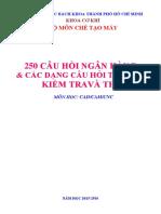 Ngan Hang Cau Hoi Kiem Tra Va Thi - Mon Hoc Cadcamcnc