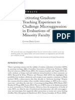 Activating Graduate Student Teaching Experience to Challenge Microaggression in Evaluation of Minority Faculty