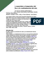 Asociaciones Espaciales y Temporales Del Ruido Del Tráfico y La Contaminación Del Aire en en Español (1)