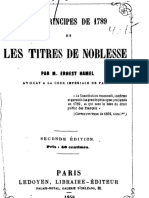 E. Hamel - Les principes de 1789 et les titres de noblesse