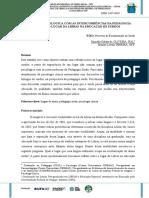 A Clinica Psicologica Com as Intercorrencias Da Pedagogia Surda o Lugar Da Libras Na Educacao de Surdos