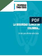 Avances de La Seguridad de Pacientes en Colombia 2014