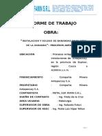 Informe de Trabajo Instalacion y Soldeo de Barandas en Procesos Antapaccay