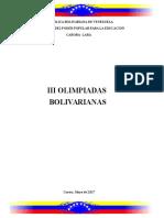 Guia de Las Olimpiadas Bolivarianas