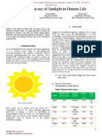 A Review on Use of Sunlight in Human Life