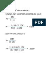 Calculo de La Presion Maxima Permisible - Pulmon Eliptico
