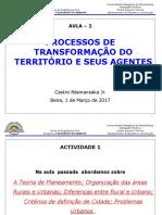 UP - Planeamento Urbano_Processos de Transformacao Do Territorio- AULA 2
