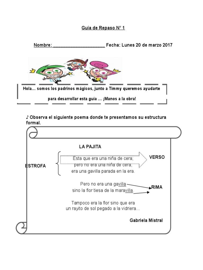 1 Poema 4 Basico Poesía Ficción Y Literatura