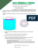 Condensadores cilíndrico y esférico