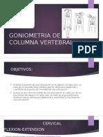 Goniometria de Columna Vertebral