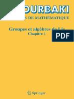 Groupes Et Algèbres de Lie - Chapitre 1