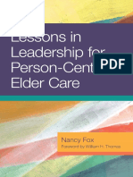 Lessons in Leadership for Person-Centered Elder Care (Excerpt)