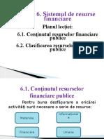 6. Sistemul de Resurse Financiare