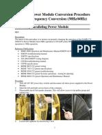 60Hz - 50Hz Conversion Procedure C32