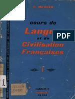 Cours de Langue et de Civilisation Françaises I