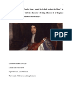 """Charles Stuart would be bribed against the King:"" in what ways and why did the character of King Charles II of England conflict with traditional ideas of monarchy?"
