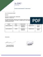 Certificado de Mantenimiento y Operatividad