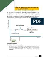 Línea base  impacto ambiental