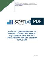 TOOLS ERP - Guía de Configuración de Instalación Del SQL Server 2008
