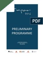 Cinpar2016 Programme DRAFT