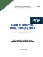 Manual de Estructura, Forma, Lenguaje y Estilo 2015